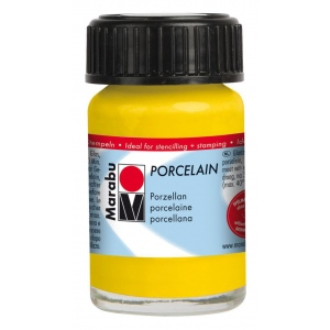 Marabu Porcelain Paint Sunshine Yellow 15ml: Yellow, Jar, 15 ml, Porcelain, (model M11059039220), price per each