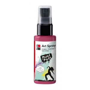 Marabu Art Spray Bordeaux: Red/Pink, Bottle, 50 ml, Acrylic, (model M12099005034), price per each