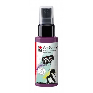 Marabu Art Spray Aubergine: Green, Bottle, 50 ml, Acrylic, (model M12099005039), price per each