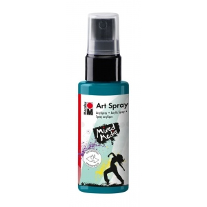 Marabu Art Spray Petrol: Blue, Bottle, 50 ml, Acrylic, (model M12099005092), price per each