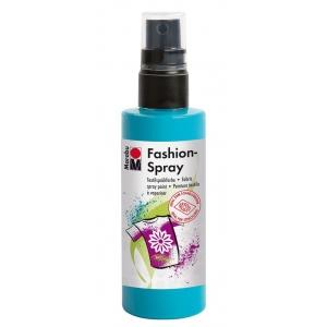Marabu Fashion Spray Caribbean 100ml: Blue, Bottle, 100 ml, Fabric, (model M17199050091), price per each