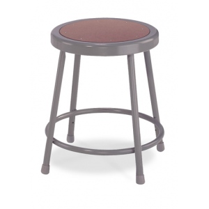"National Public Seating Corp. 6200 Series Heavy-Duty Steel Stools: Basic, Adjustable, 19""-26 1/2"""