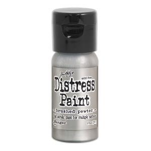 Ranger - Tim Holtz - Distress Paint Flip Cap - Brushed Pewter 1 oz
