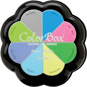 ColorBox® Petal Point Playful Ink Set: Multi, Pad, Dye-Based, Petal Points, (model CS27301), price per each