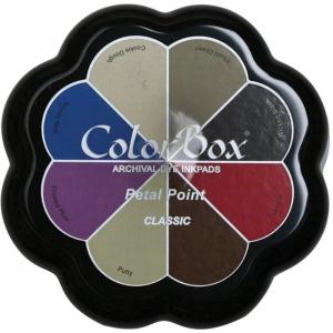 ColorBox® Petal Point Classic Ink Set: Multi, Pad, Dye-Based, Petal Points, (model CS27303), price per each