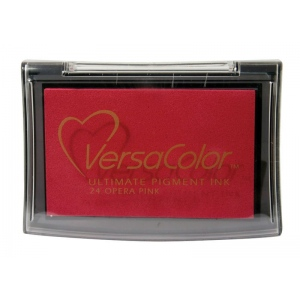 VersaColor™ Pigment Ink Pad Opera Pink: Red/Pink, Pad, Pigment, Full Size Rectangle, (model VC024), price per each