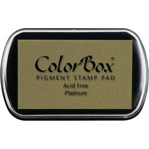 ColorBox® Full Size Metallic Pigment Ink Pad Platinum: Metallic, Pad, Pigment, Full Size Rectangle, (model CS19204), price per each