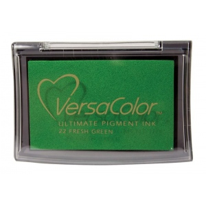 VersaColor™ Pigment Ink Pad Fresh Green: Green, Pad, Pigment, Full Size Rectangle, (model VC022), price per each