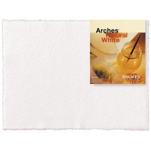 "Arches® 22"" x 30"" 140 lb./300 g Rough Watercolor Sheets Natural White: White/Ivory, Sheet, 10 Sheets, 22"" x 30"", Rough, (model 1795027), price per sheet"