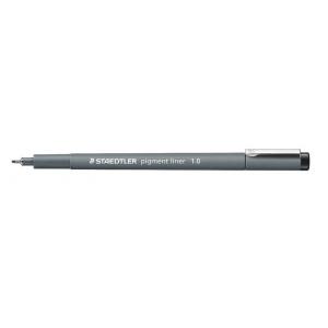 Staedtler® Pigment Liner 1.0mm: Black/Gray, Pigment, 1.0mm, Fine Nib, Technical, (model 30810), price per each