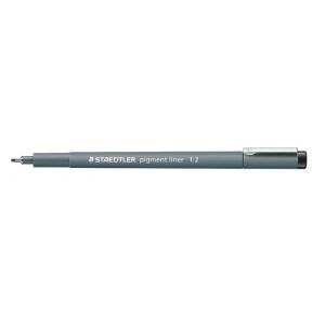 Staedtler® Pigment Liner 1.2mm: Black/Gray, Pigment, 1.2mm, Fine Nib, Technical, (model 30812), price per each
