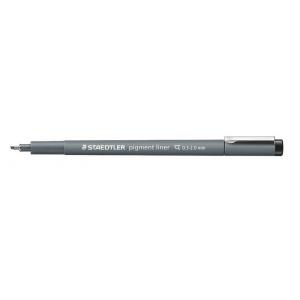 Staedtler® Pigment Liner .3 - 2.0mm Chisel Tip: Black/Gray, Pigment, Chisel Nib, Technical, (model 308C2), price per each