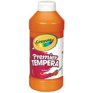 Crayola® Premier Tempera Paint 16oz Orange: Orange, Bottle, 16 oz, Tempera, (model 54-1216-036), price per each