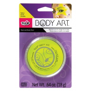 Tulip® Body Art™ Neon Yellow Paint: Yellow, Jar, 18 g, (model D28818), price per each