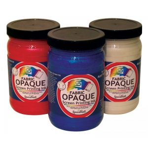 Speedball® Opaque Fabric Screen Printing Ink Raspberry: Red/Pink, Jar, Fabric, 32 oz, Screen Printing, (model 4821), price per each
