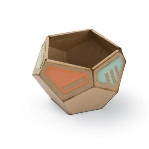 Sizzix - Thinlits Die Set 7 Pack - Geometric Holder - 3-D Lynda Kanase