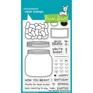 Lawn Fawn - How You Bean? Stamp Set