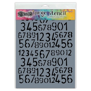 Ranger - Dyan Reaveley - Dylusions - Stencils - Old School Number - Large