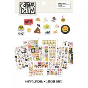 Simple Stories - Carpe Diem - Emoji Love - Sticker Sheet Tablet