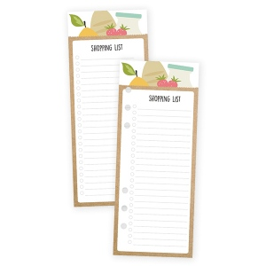 Simple Stories - Carpe Diem - Recipe - Shopping List Bookmark Tablet