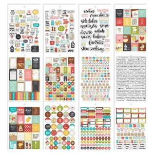 Simple Stories - Carpe Diem - Recipe - Sticker Sheet Tablet