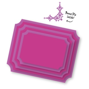 Couture Creations - Sweet Accent - Nesting Inverted Corner Frames Dies