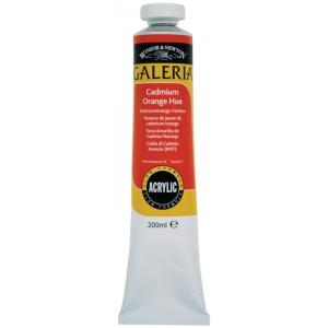 Winsor & Newton™ Galeria™ Acrylic Color 200ml Cadmium Orange Hue; Color: Orange; Format: Tube; Size: 200 ml; Type: Acrylic; (model 2136090), price per tube