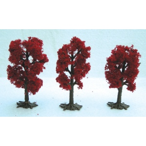 "Wee Scapes™ Architectural Model Japanese Red Maple Trees; Color: Red/Pink; Quantity: 3-Pack; Size: 2 1/2"" - 3""; Type: Tree; (model WS00331), price per 3-Pack"