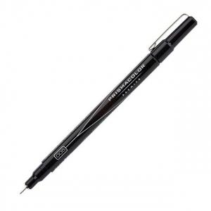 Prismacolor® Premier Black Fine Line Marker .005 Nib; Color: Black/Gray; Tip Size: .005mm; Tip Type: Fine Nib; (model SN14178), price per each