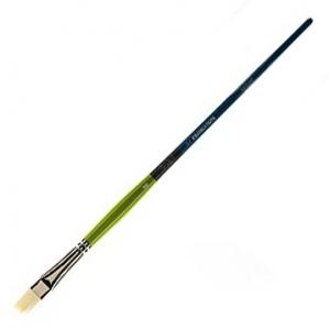 Princeton™ Snap! White Taklon Long Handle Brush Watercolor and Acrylic Brush Bright 8: Long Handle, Taklon, Bright, Acrylic, Watercolor, (model 9800B-8), price per each