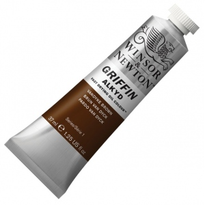 Winsor & Newton Griffin Alkyd Fast Drying Oil Color Paints: Price Series 1, Vandyke Brown, 37ml Tubes