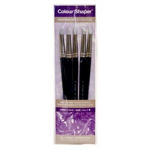 Colour Shaper Silicone Brushes: Grey Tip, Size 2, 5-Piece Set
