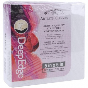 "Winsor & Newton Artists' Deep Edge Stretched Cotton Canvas: 5"" x 5"""