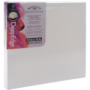 "Winsor & Newton™ Artists' Stretched Canvas Deep Edge Cotton 12"" x 12"": 12"" x 12"", 1 1/2"", Stretched, (model 6015115), price per each"