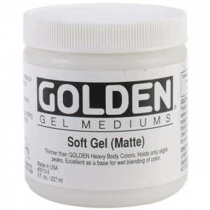 Golden® Matte Soft Gel Medium 8 oz.: Matte, 236 ml, 8 oz, Gel, (model 0003013-5), price per each