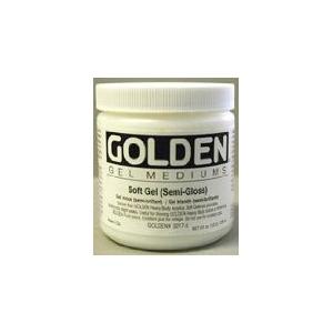 Golden Soft Gel Medium: Semi-Gloss, 8 oz. (236ml)