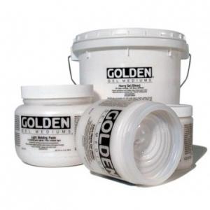Golden® Semi-Gloss Heavy Gel Medium 8 oz.: Semi-gloss, 236 ml, 8 oz, Gel, (model 0003070-5), price per each