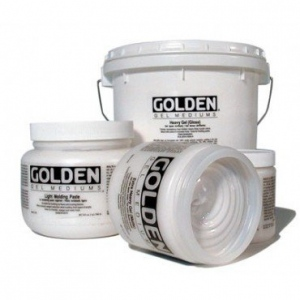 Golden® Semi-Gloss Heavy Gel Medium 16 oz.: Semi-gloss, 16 oz, 473 ml, Gel, (model 0003070-6), price per each