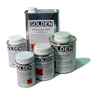 Golden Mineral Spirit Acrylic Varnishes with UVLS: Matte, 8 oz. (236ml)