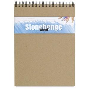 """Stonehenge® Versatile Artist Journal Cream 9"""" x 12"""": Wire Bound, White/Ivory, Pad, 9"""" x 12"""", (model L21-SPR250CR912), price per each"""