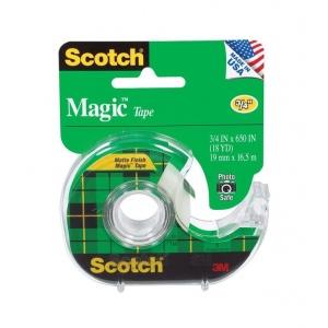 """Scotch® Magic™ 3/4"""" x 650"""" Tape; Color: Clear; Size: 3/4"""" x 650""""; Type: Magic; Width: 3/4""""; (model 122), price per each"""