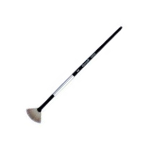 Dynasty Black Silver Blended Synthetic Watercolor Brush: Fan, Size 2