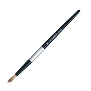 Dynasty Black Silver Blended Synthetic Watercolor Brush: Round, Size 10