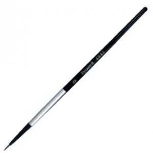 Dynasty Black Silver Blended Synthetic Watercolor Brush: Liner, Size 10/0