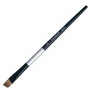 Dynasty Black Silver Blended Synthetic Watercolor Brush: Angular, Size 1/4