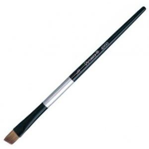 Dynasty® Black Silver® Blended Synthetic Watercolor Brush Angular 3/8: Short Handle, Bristle, Angular, Watercolor
