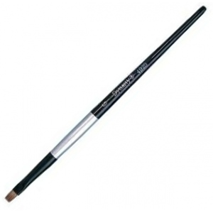 Dynasty Black Silver Blended Synthetic Watercolor Brush: Bright, Size 4