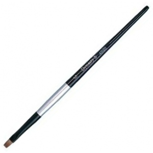 Dynasty Black Silver Blended Synthetic Watercolor Brush: Bright, Size 6