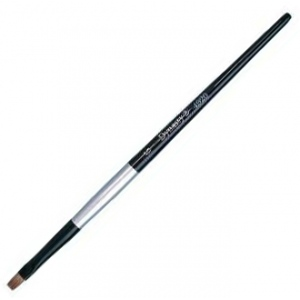 Dynasty Black Silver Blended Synthetic Watercolor Brush: Bright, Size 10