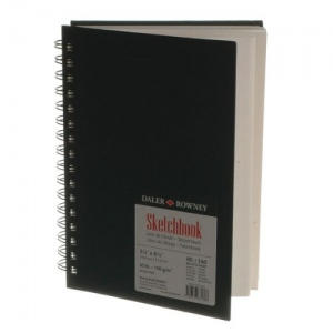 "Cachet® Simply™ Sketchbook 5.5"" x 8.5"" Soft White Paper Wirebound; Color: White/Ivory; Format: Book; Quantity: 80 Sheets; Size: 5 1/2"" x 8 1/2""; Type: Sketching; (model SSW481500508), price per each"